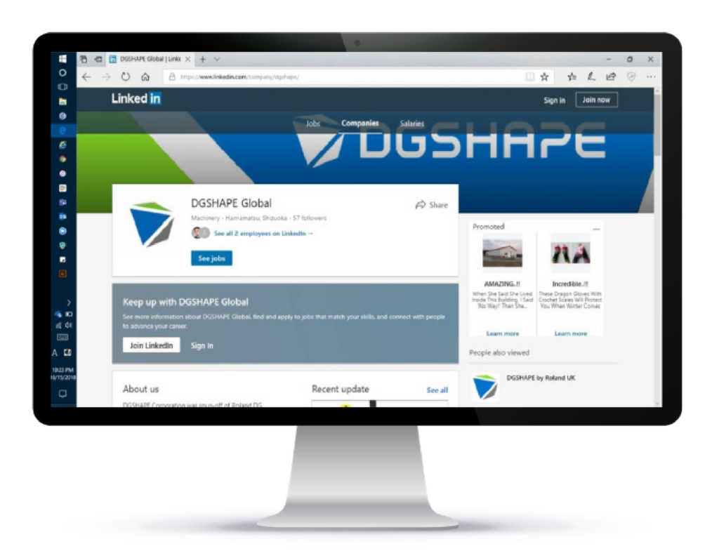 DGSHAPE LinkedIn Page